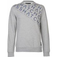 Crosshatch Leeroy Crew Sweater Mens Lt Grey Marl