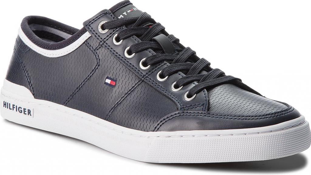 7cf2b1916e6f01 TOMMY HILFIGER Core Corporate Leather Sneaker FM0FM01497 Midnight 403  alternativy - Heureka.cz