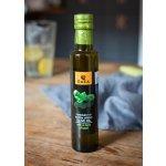 Gaea Aromatický extra panenský olivový olej s trochou bazalky 250 ml