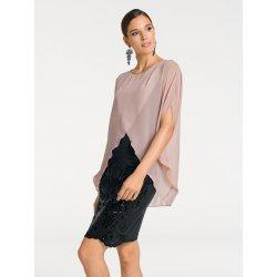 Ashley Brooke by heine koktejlové šaty s flitry růžová černá ... 6281705891d