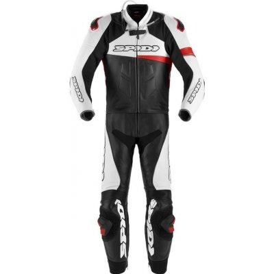 dvoudílná kombinéza RACE WARRIOR TOURING, SPIDI (černá/bílá/červená) Velikost/Provedení: 52 | Barva # černá/bílá