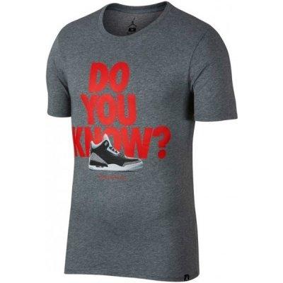 Nike JSW TEE AJ3 DO YOU KNOW Pánské tričko Air Jordan 3