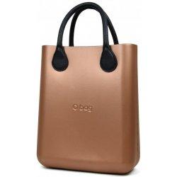 O bag kabelka O Chic Bronzo s černými krátkými koženkovými držadly ... 3aa1c956181