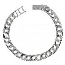 Náramek pánský stříbrný rhodiovaný 036282042047