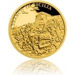Česká mincovna Zlatá mince Válečný rok 1943 Invaze na Sicílii proof 3,11 g