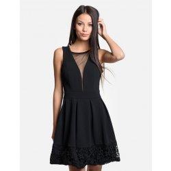 Calzanatta dámské společenské šaty s krajkou 8075 černá alternativy ... 2864b43744
