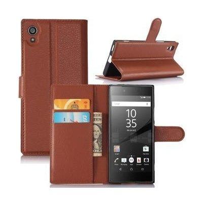 Pouzdro Graines peněženkové Sony Xperia XA1 - hnědé
