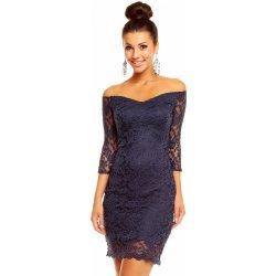 5473a5818bb8 Mayaadi dámské společenské šaty krajkové s 3 4 rukávem krátké tmavě modrá
