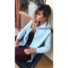Fashionweek Pletený teplý svetr pro chladné dny s kapuci mohér a vlna SV012  ALY Modrá ec3a831554
