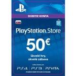 Sony PlayStation Store předplacená karta 50 EUR