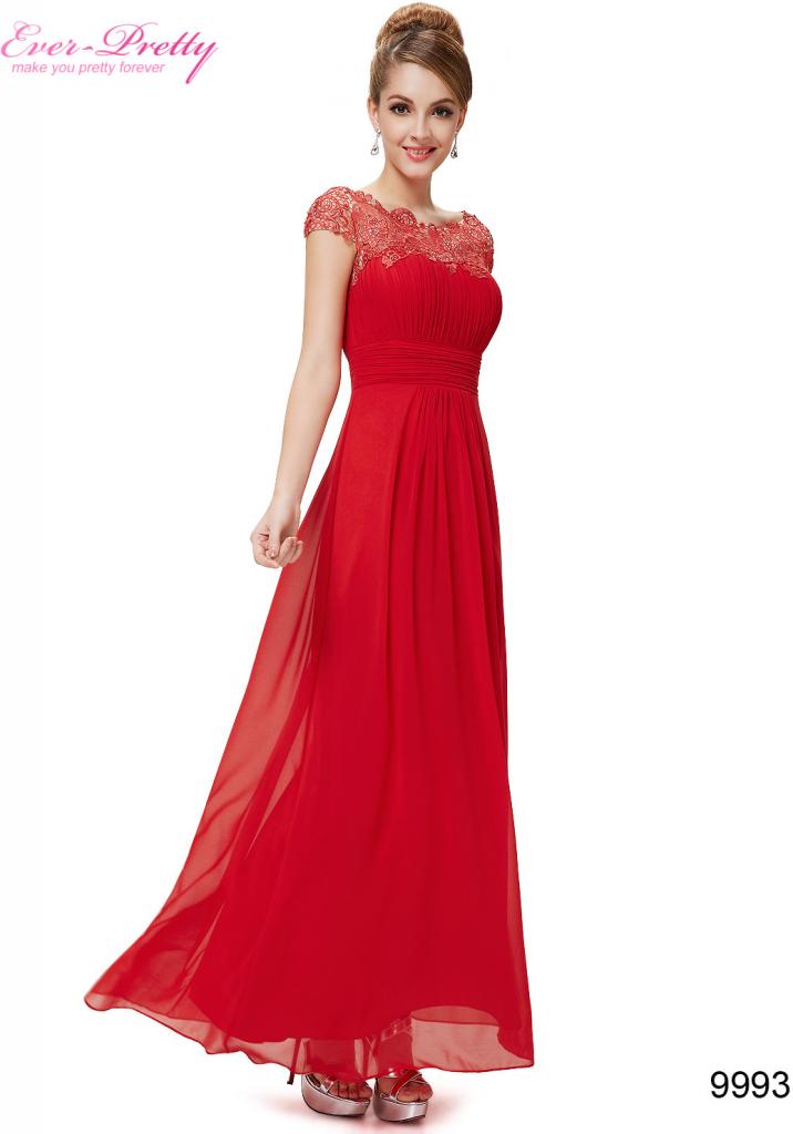 0f441cde7618 Ever Pretty plesové šaty s krajkou 9993 červená od 1 790 Kč - Heureka.cz