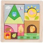 Le Toy Van dřevěné kostičky lesní kamarádi