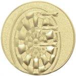 Emblém šipky zlato 25 mm