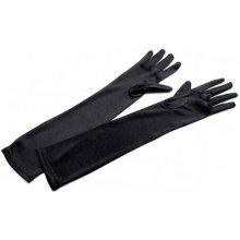 5fdb1aab335 Dlouhé společenské rukavice saténové černá