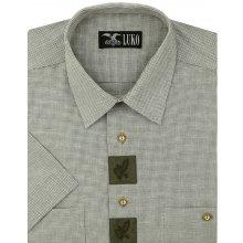 6e1a0b01e30c Luko pánská myslivecká košile 164113 jemné zelené káro krátký rukáv regular  fit