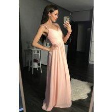 292f72fdcc8 Eva   Lola dámské společenské plesové šaty s řasením a kamínky růžová