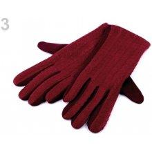 d10166b094f dámské úpletové rukavice 1pár 3 bordó sv.