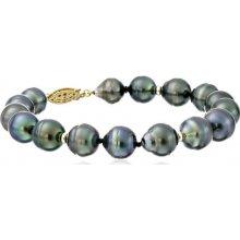 KLENOTA náramek z Tahitských perel zlato je3074