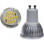 SMD Lighting LED žárovka GU10 6W bílá čistá