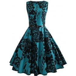 de19d240020f Dámské letní šaty Retro vintage s potiskem květů