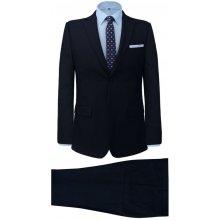Pánský dvoudílný business oblek proužek námořnická modř 002436c9ac