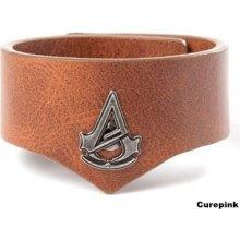 Náramek na zápěstí Assassins Creed: Unity hnědý symbol polyuretan 322262 CurePink