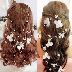 B-TOP Svatební ozdoba do vlasů KVĚTY S PERLAMI - bílá alternativy ... 53f6f67442
