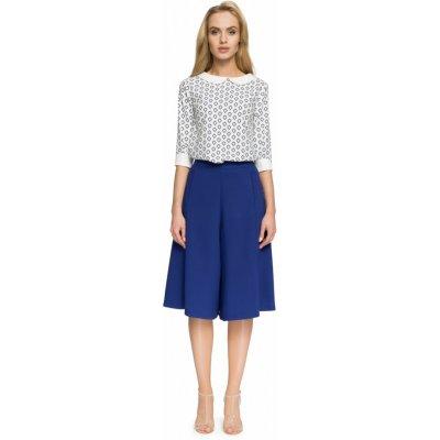 Stylove dámská kalhotová sukně S041 královská modř