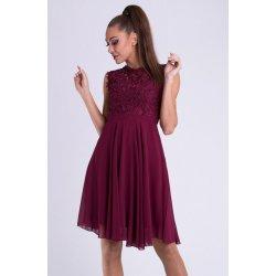 7603507e1f3 Eva   Lola dámské společenské plesové šaty vínová alternativy ...