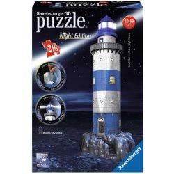 Ravensburger 3D puzzle Maják v příboji Noční edice 216 dílků