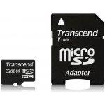 Transcend microSDHC 32GB UHS-I + adaptér TS32GUSDHC10