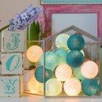BallDesign Ledové království (sada 20 balónků) - Svíticí bavlněné koule