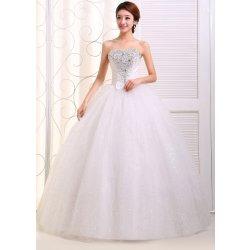MF-Imp Dámské plesové svatební šaty s kamínky bílé alternativy ... 708e9d5026