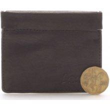 Delami Kožená černá peněženka na minceM.I.M.I černá