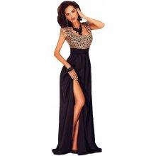 LM moda dlouhé elegantní šaty 60809 černá 5d17d20eea