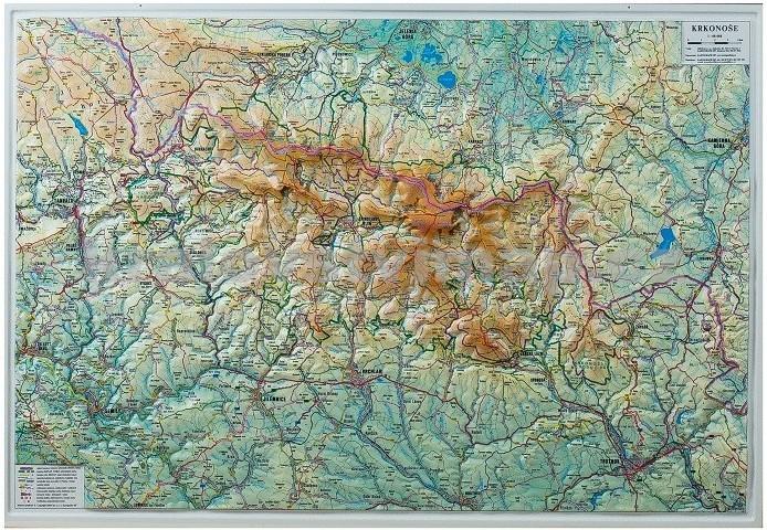 Nastenne Mapy Krkonose Nastenna Plasticka Mapa Mapa Dreveny
