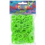 RAINBOW LOOM Original gumičky 300 kusov neónovo zelené