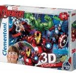 Clemmy puzzle 3D vision Supercolor 104 dílků Avengers