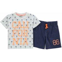 Crafted T Košile and shorts Set Child boys oranžová