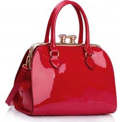 97fb3fa70067 L S Fashion LS dámská kabelka s kovovým rámem LS00378 červená ...
