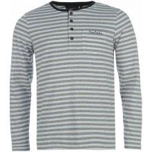 Pierre Cardin Grandad Long Sleeved Top White/Blue