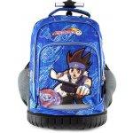 Monsuno batoh trolley Beyblade modrý s motivem chlapce Beyblade