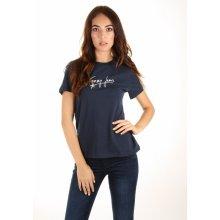 347f9458c1 Tommy Hilfiger dámské tričko Feminine tmavě modré
