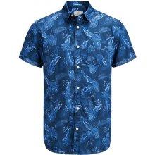 Jack Jones Košile s krátkými rukávy Jorpaka Modrá b3eb81a4b3