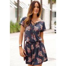 bc633e3a0d94 Lascana plážové šaty námořní modř s potiskem růžová