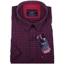 Pánská Košile Toneli pánské košile krátký rukáv červená 110807 a7f3ce32ac