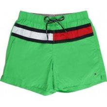 Tommy Hilfiger pánské zelené plavky Flag