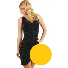 b4ea56509193 TopMode krátké třpytivé šaty zlatá