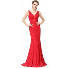 854c283117f8 Ever Pretty šaty z krajky EP08838RD jasně červená