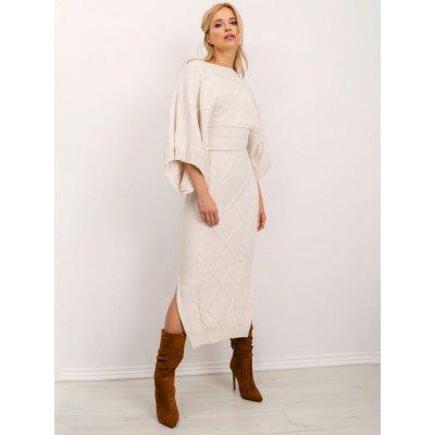 Dámská pletená sukně se vzorem bsl-sd-14070 ecru